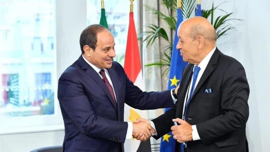 الرئيس-السيسي-يستقبل-وزير-الخارجية-الفرنسي