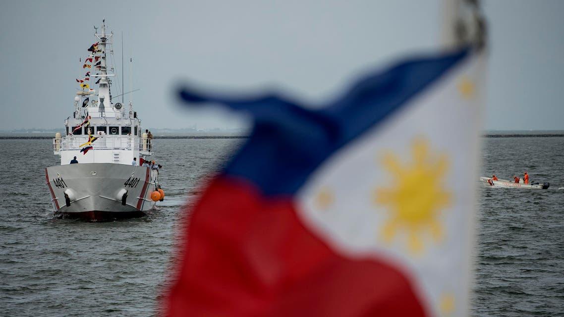 Philippine Coast Guard's multi-role response vessel at a port in Manila. (File photo: AFP)