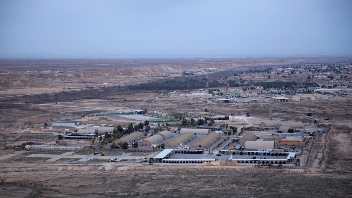 Aerial photo shows Ain al-Assad air base in the western Anbar desert, Iraq. (File photo: AP)