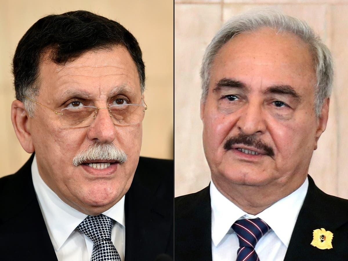 A combo photo of al-Sarraj and Haftar. (File photo: AFP)