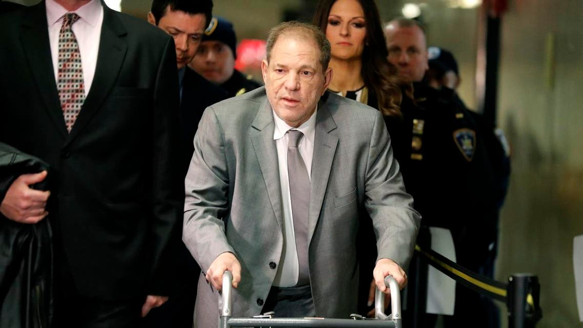 Harvey Weinstein arrives to court for the start of jury selection in his sexual assault trial on January 7, 2020, in New York. (AP)