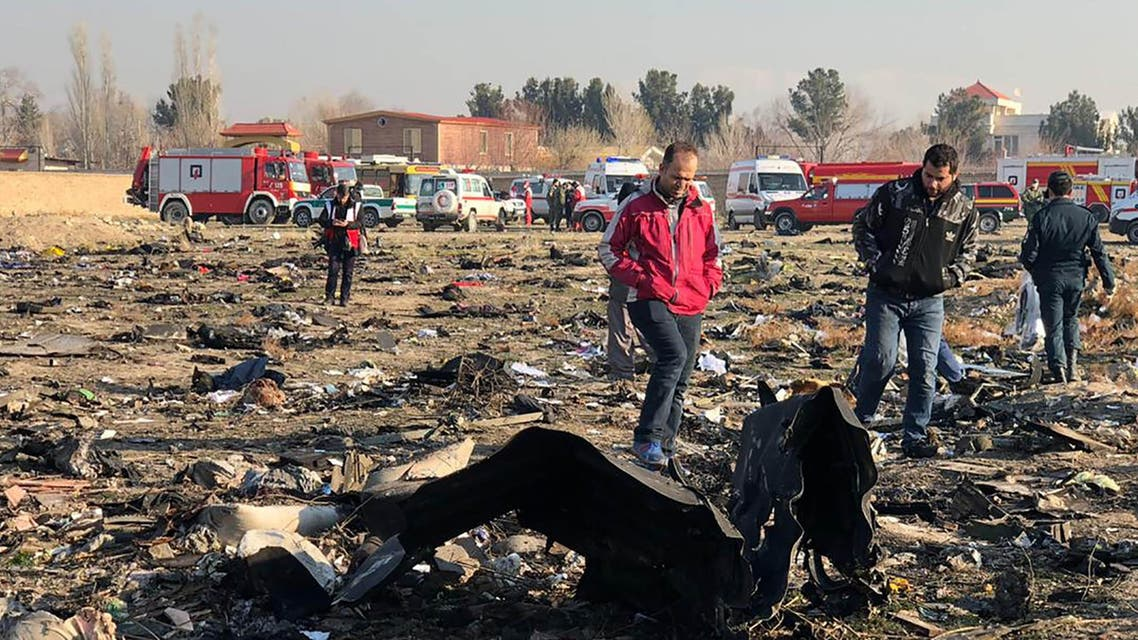 Ukraine International Airlines plane crash in Iran, which led to the death of 176 passengers. (File photo: AFP)