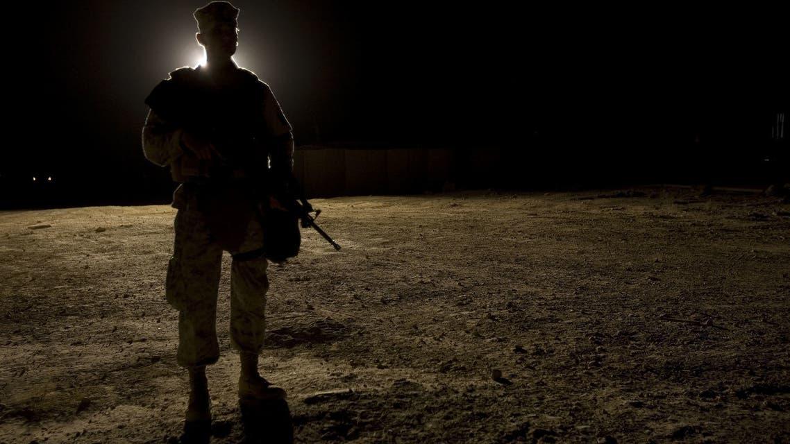 جندي أميركي بالقرب من قاعدة عين الأسد أرشيفية