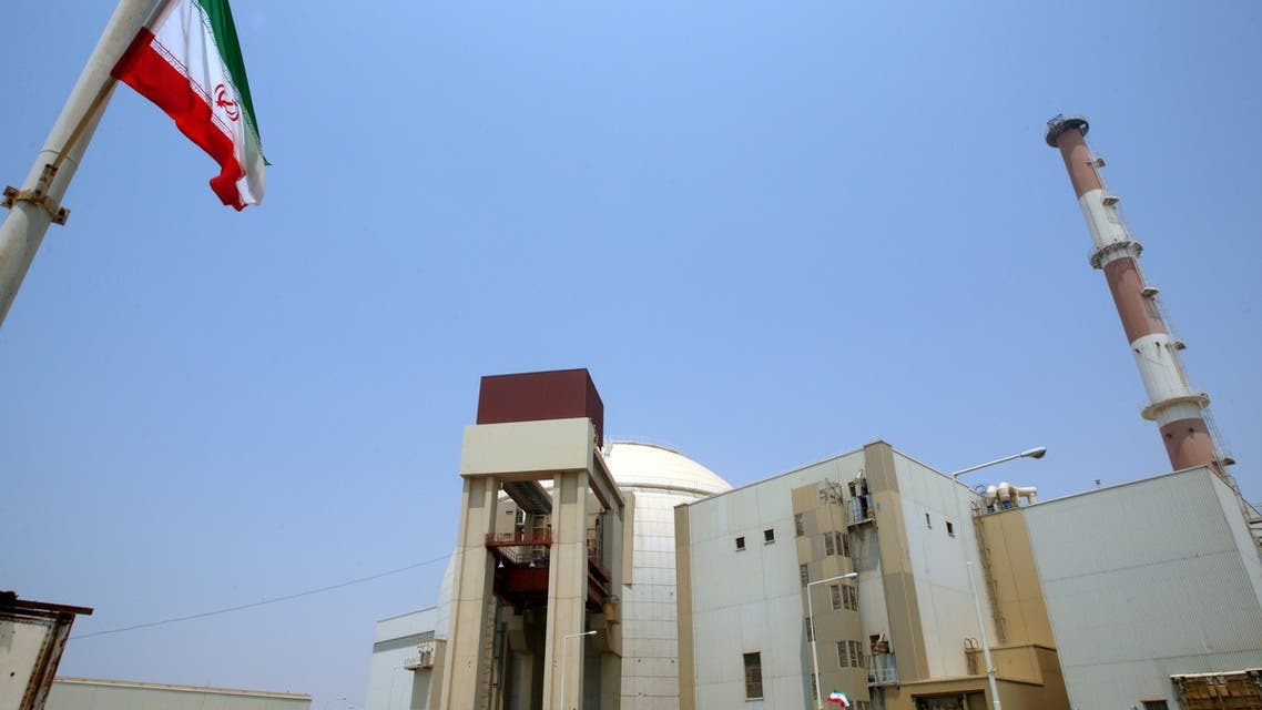 A picture shows the reactor building at the Russian-built Bushehr nuclear power plant in southern Iran on August 21, 2010 during a ceremony initiating the transfer of Russia-supplied fuel to the facility after more than three decades of delay. AFP PHOTO/ATTA KENARE
