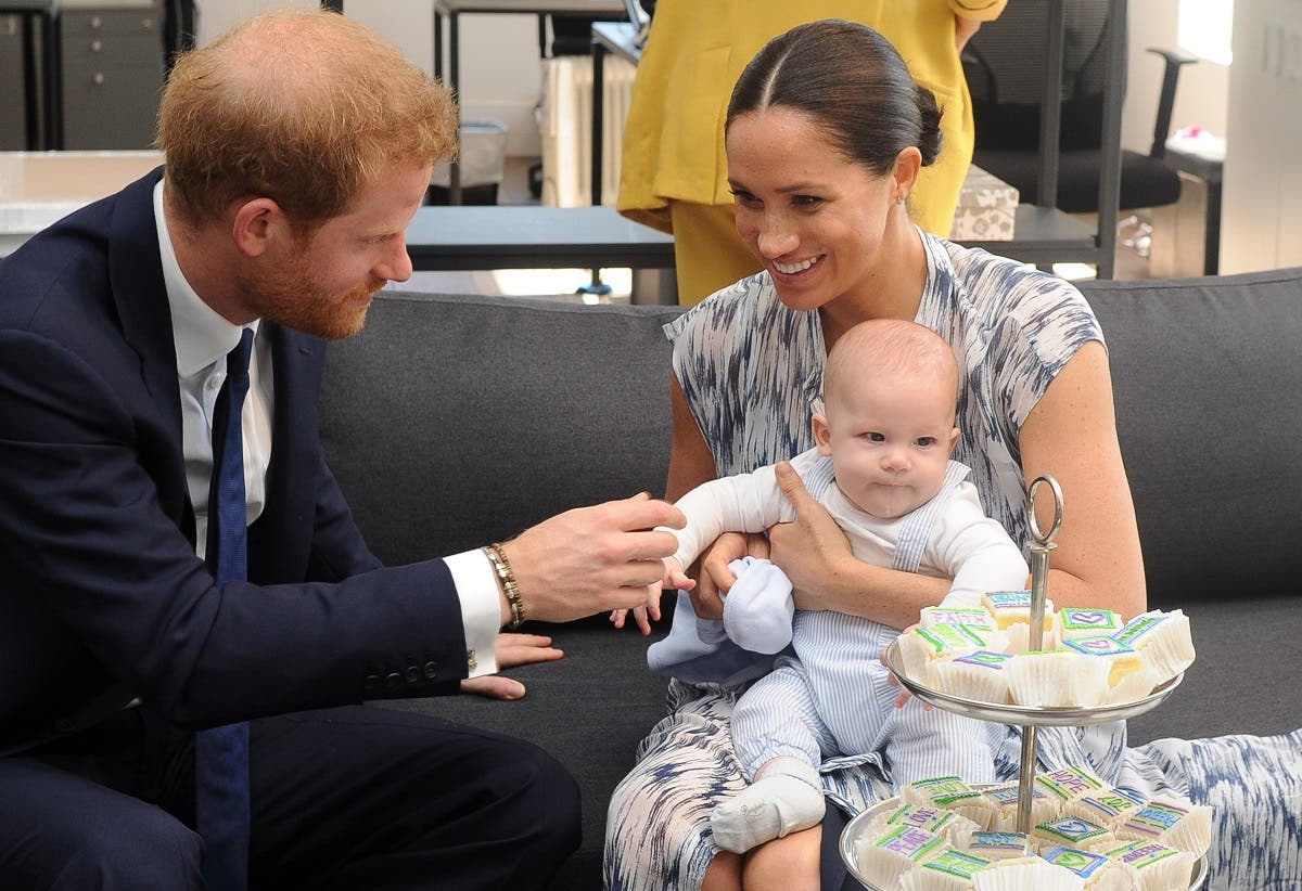 Britain's Duke and Duchess of Sussex, Prince Harry and his wife Meghan with their baby son Archie. (File photo: AFP)