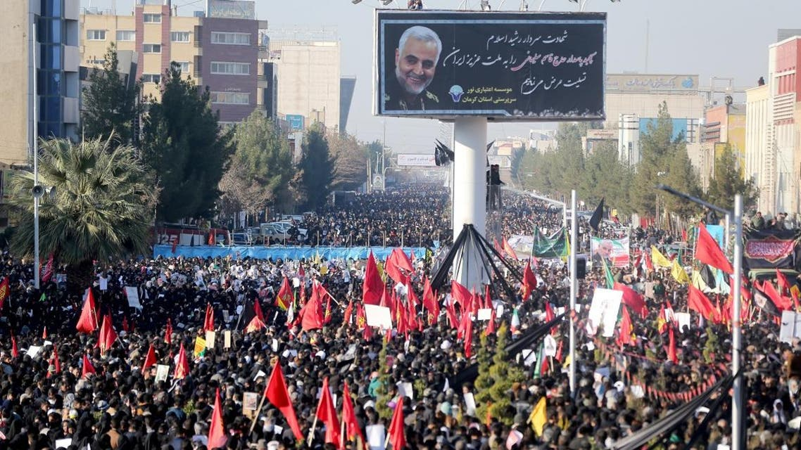 Iranian people attend a funeral procession and burial for Iranian Quds Force General Qassem Soleimani. (Photo: Reuters)
