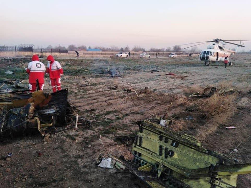 من موقع تحطم الطائرة الأوكرانية