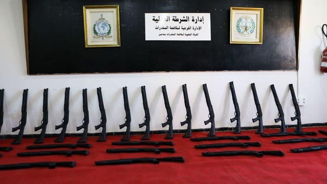 الأسلحة المصادرة