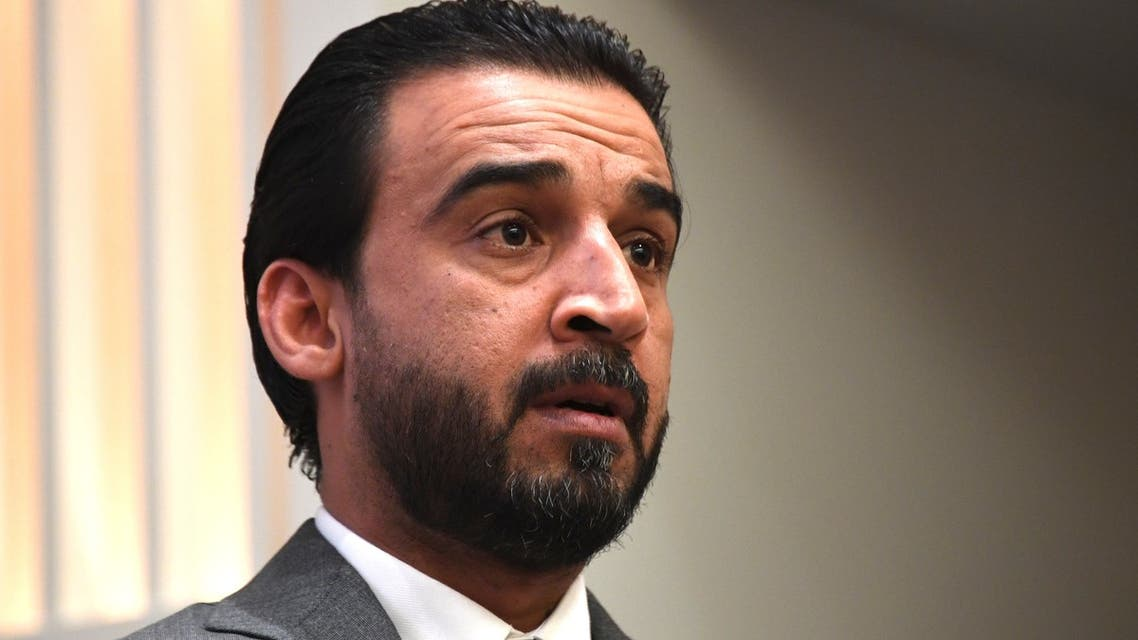 Iraq Council of Representatives Speaker Mohammed al-Halbousi speaks at the United States Institute of Peace (USIP) in Washington, DC, on March 29, 2019. USIP held a discussion on A New Parliament in Iraq, focusing on priorities, the battle against violent extremism, and a vision for peace and stability.