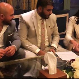 بالصور.. الفنان محمود العسيلي يحتفل بزواجه الثالث
