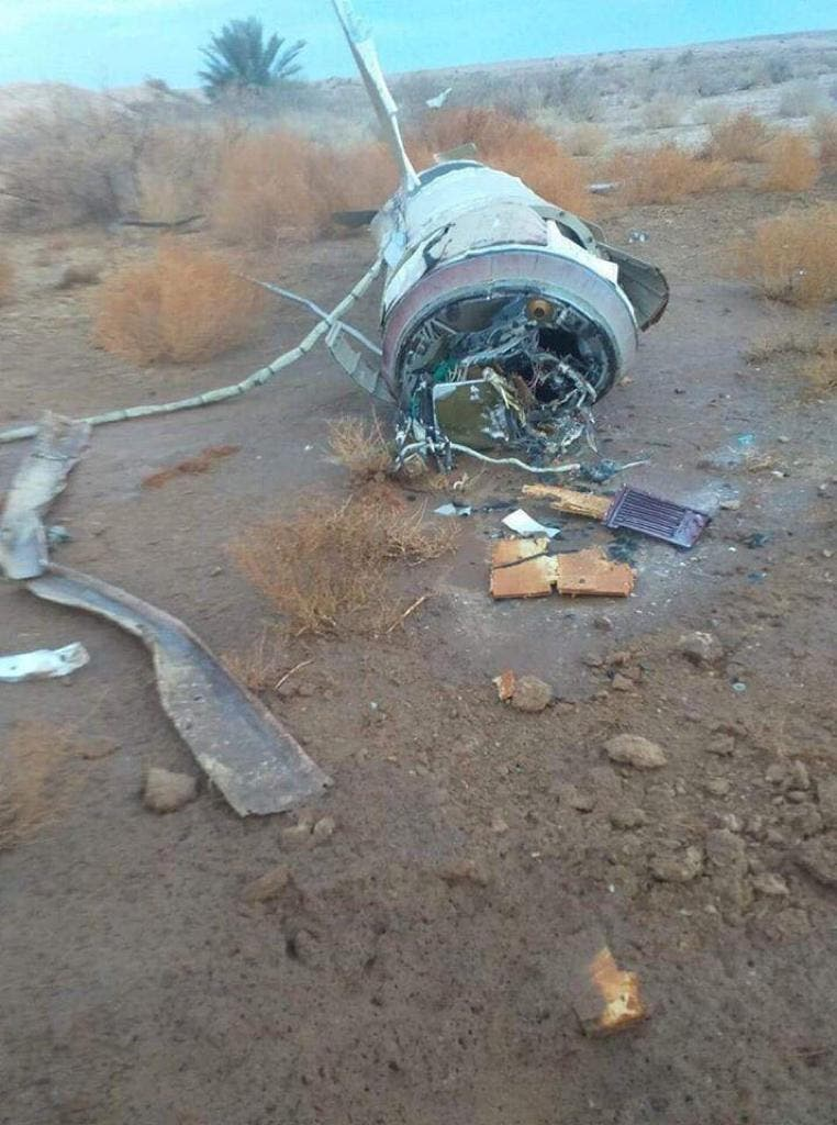 بقايا صواريخ إيرانية لم تطل أهدافها