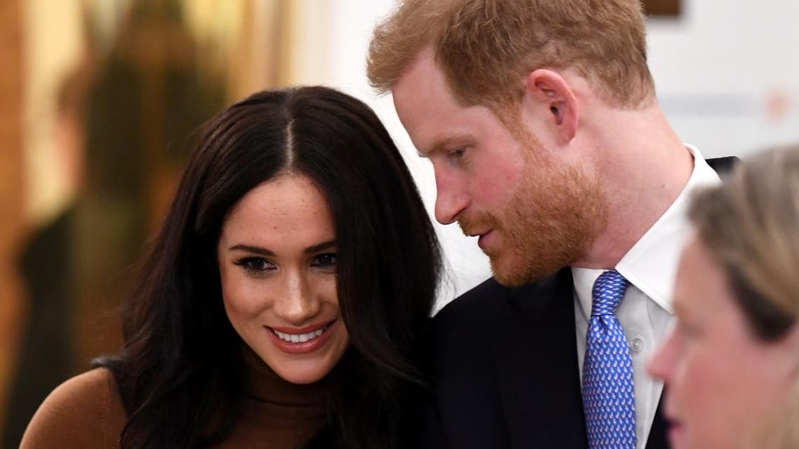 Britain's Prince Harry and his wife Meghan, Duchess of Sussex visit Canada House in London, Britain. (Reuters)