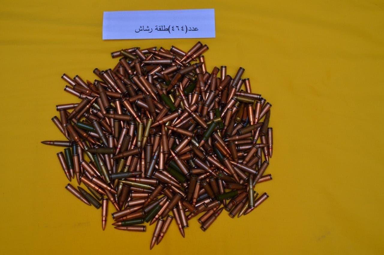 Bullets found in terrorist hideout in Qatif. (SPA)