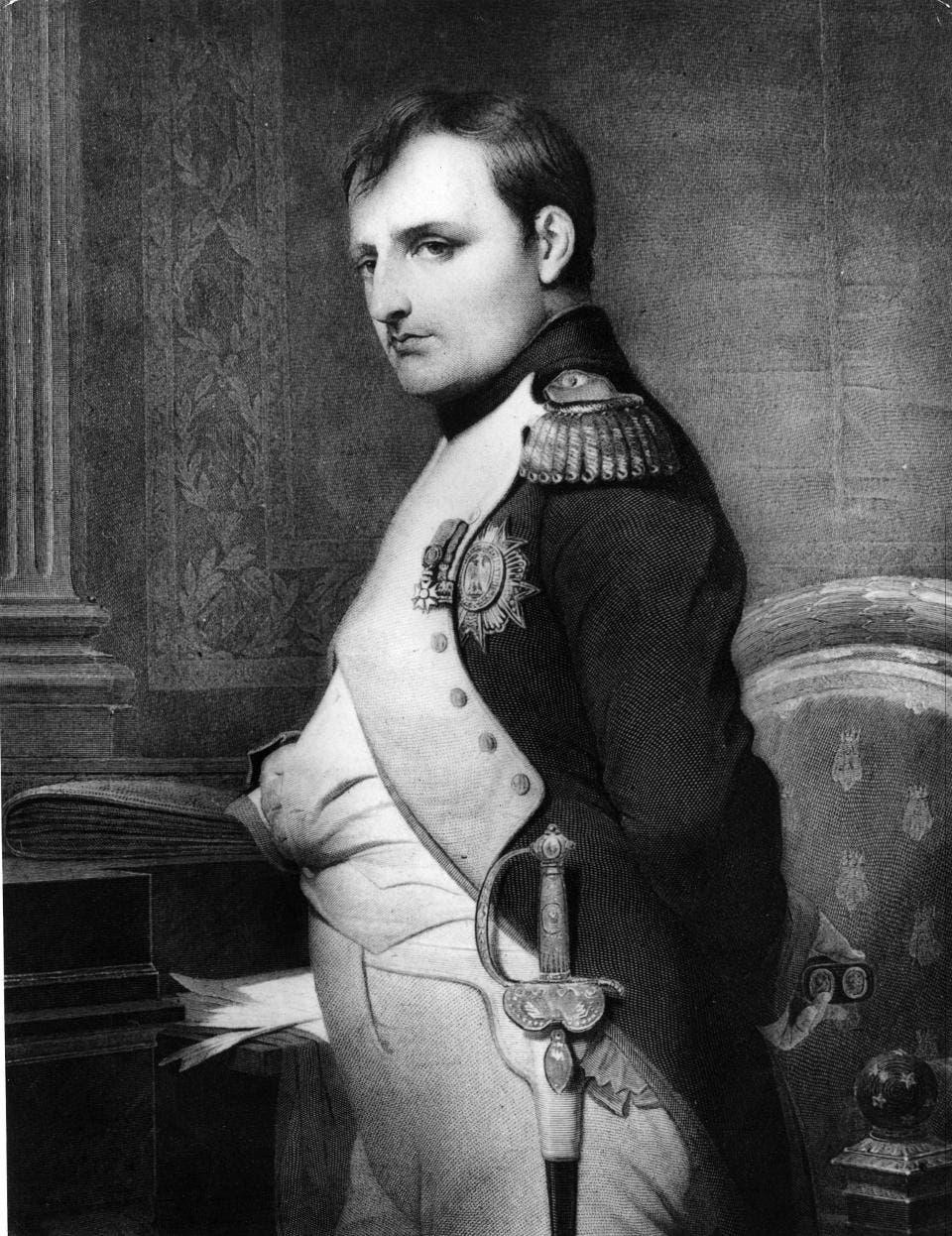 صورة تجسد شخصية نابليون بونابرت