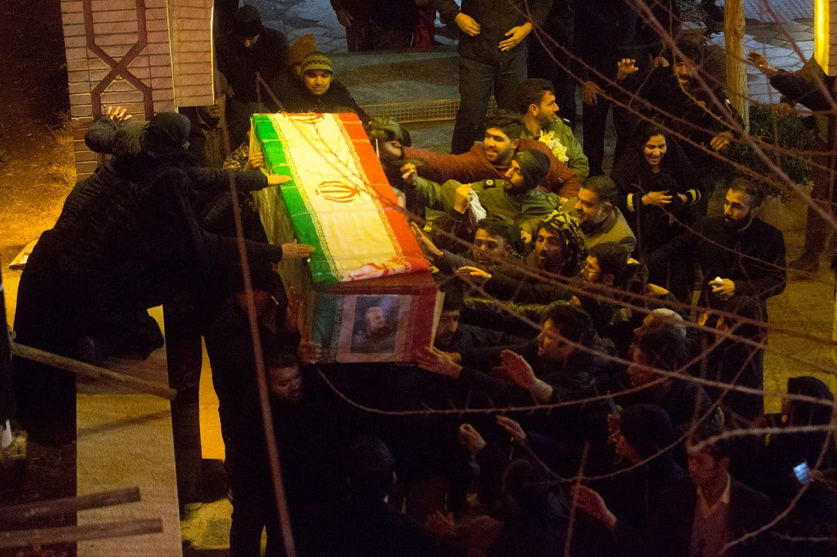 Mourners carry the coffin of Qassem Soleimani, who was killed in an air strike at Baghdad airport, during the funeral at his hometown in Kerman, Iran. (File Photo: Reuters)