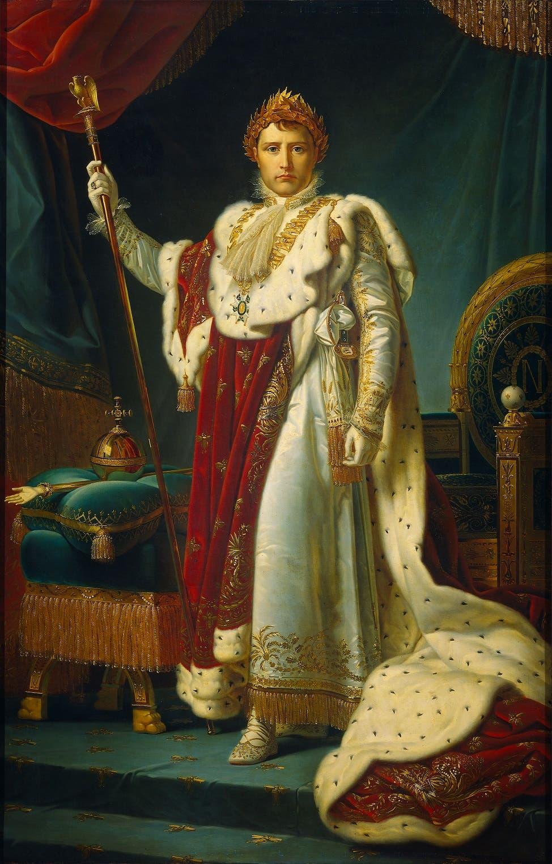 نابليون بونابرت بثياب الإمبراطور