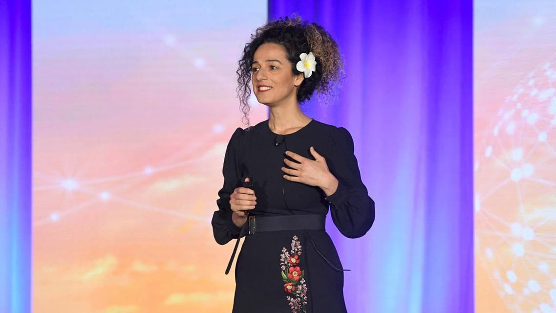 Journalist and Author Masih Alinejad speaks onstage during the WICT Leadership Conference at New York Marriott Marquis Hotel on October 16, 2018 in New York City. (File photo: AFP)
