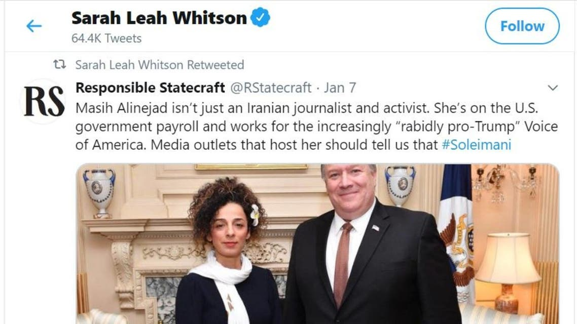 HRW's Middle East director criticized for tweeting anti-Iranian activist report