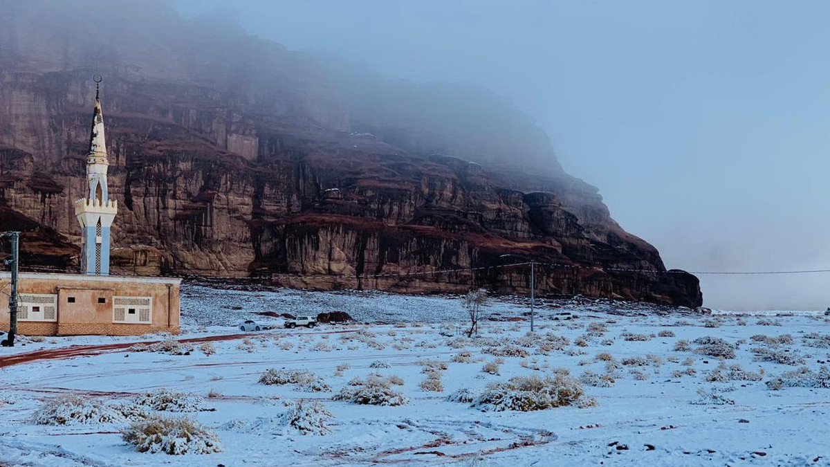 NEOM in Snow (Twitter