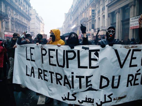 مئات الآلاف يتظاهرون ضد إصلاح أنظمة التقاعد في فرنسا