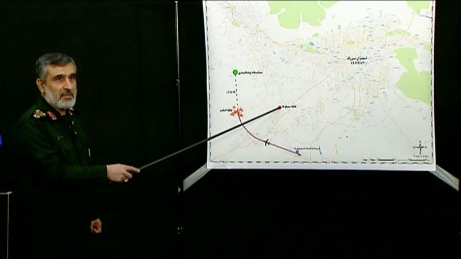In an address broadcast by state TV on Saturday, Gen. Amir Ali Hajizadeh screen grab