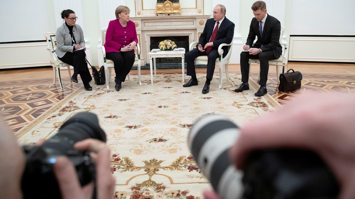 بوتين ميركل