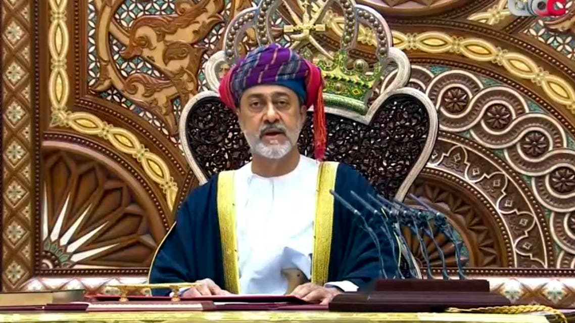 Oman's new sultan Haitham bin Tariq al-Said made his first speech in front of the Royal Family Council in Muscat, Oman, Saturday, Jan. 11, 2020. (Photo: AP)