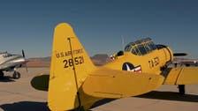Vintage aircraft fly over Saudi Arabia's al-Ula ancient desert city