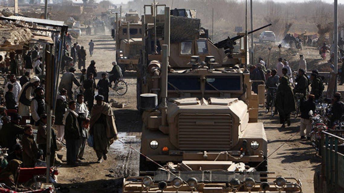 حمله انفجاری طالبان به موتر سربازان امریکایی در قندهار افغانستان