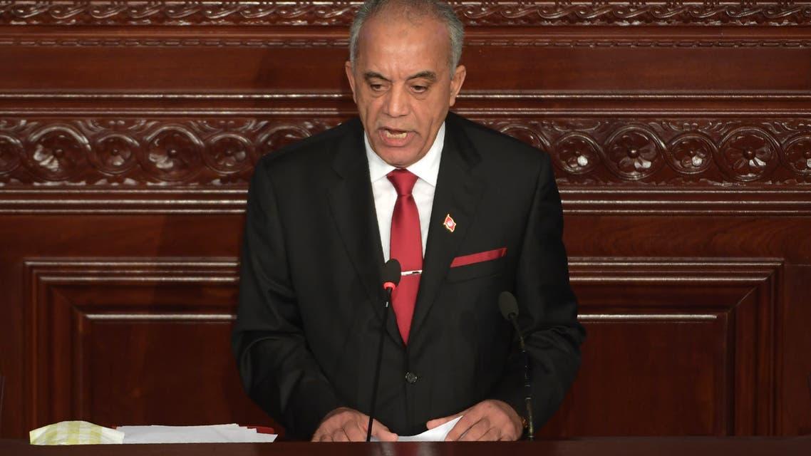 الجملي أمام الرلمان التونسي في جلسة منح الثقة (10 يناير 2020- فرانس برس)