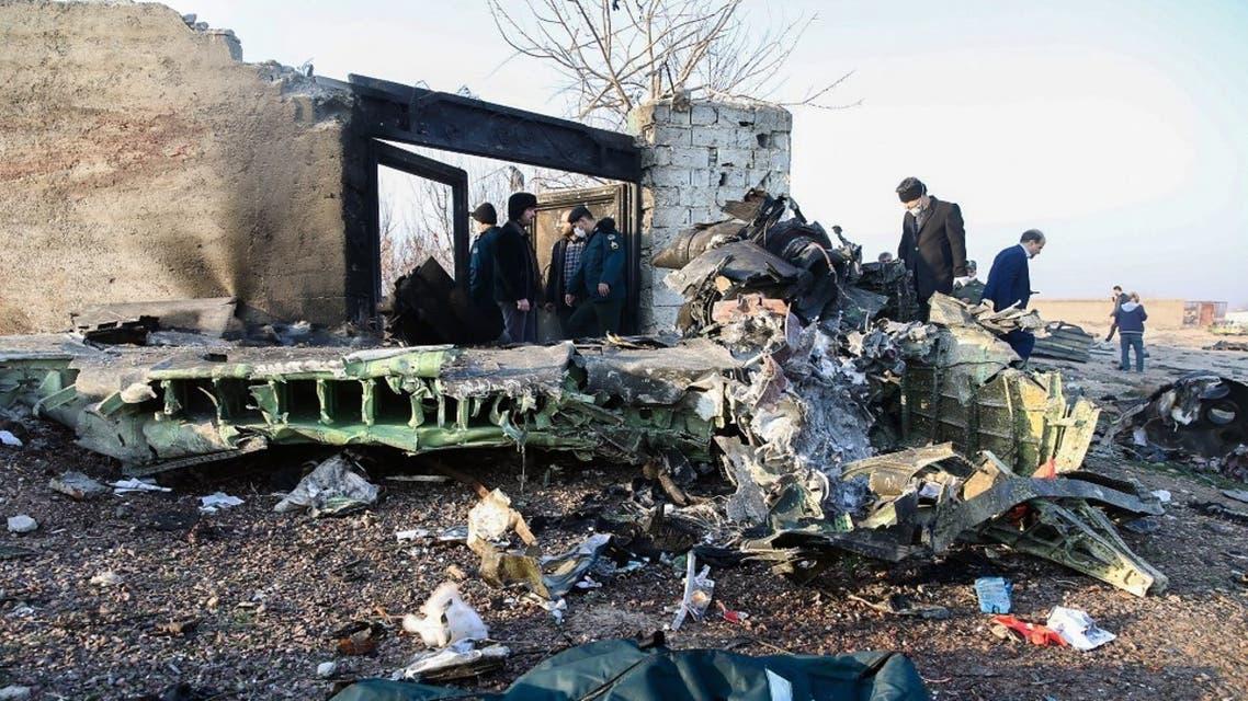 موقع تحطم الطائرة الأوكرانية