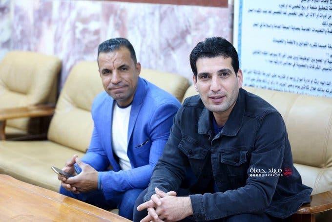 الصحافي أحمد عبد الصمد المصور صفاء غالي