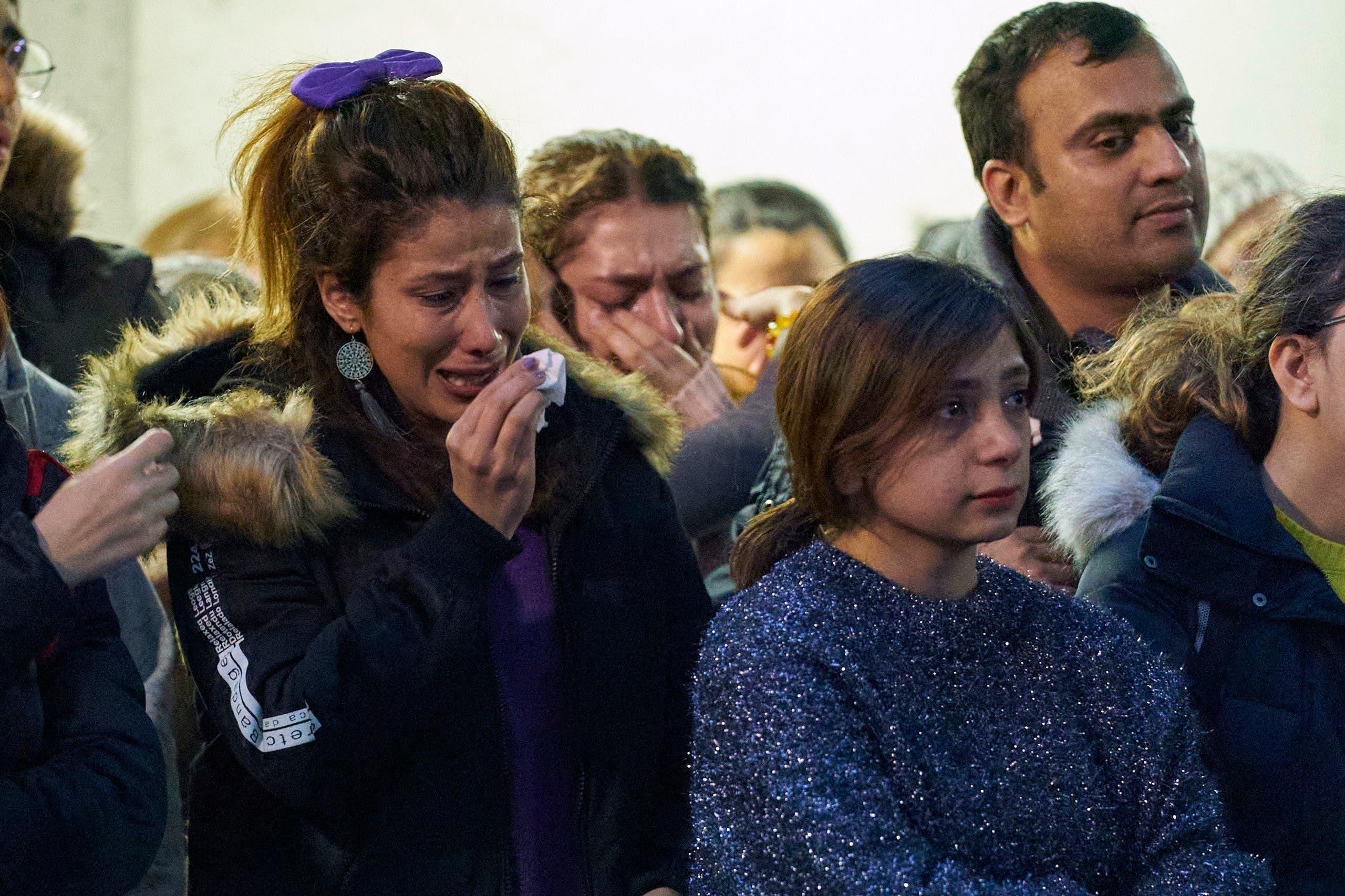 أهالي ضحايا الطائرة الأوكرانية (فرانس برس)