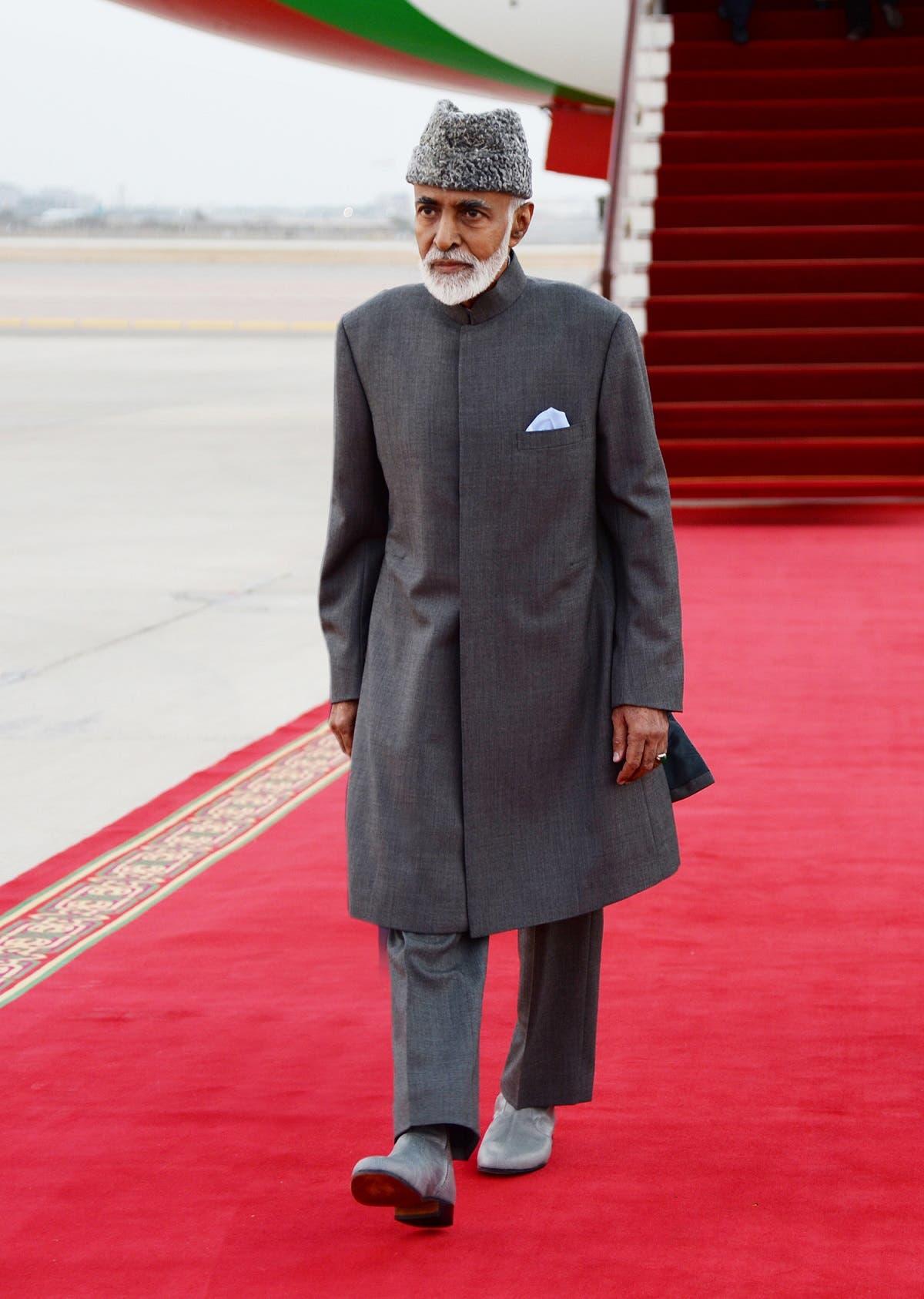 Sultan Qaboos Oman arrives in Muscat, Oman. (Photo: AP)