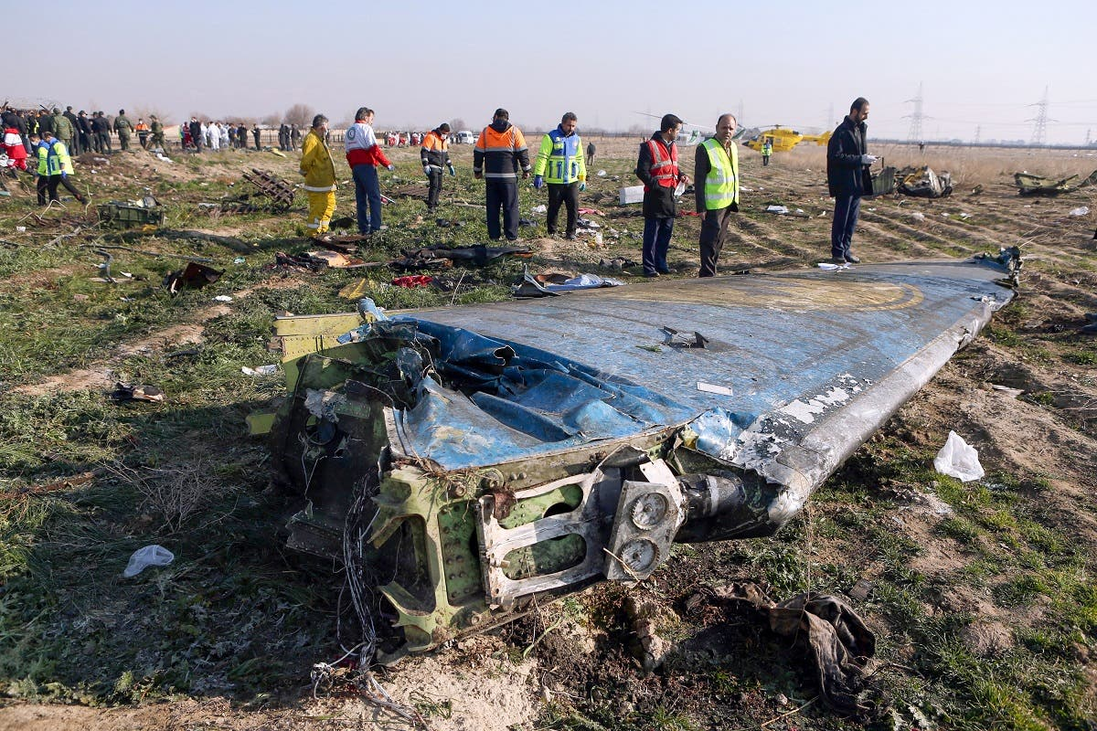 Rescue teams at the scene of a Ukrainian airliner that crashed shortly after take-off near Imam Khomeini airport in Tehran. (Photo: AFP)