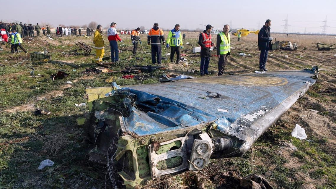Rescue teams at the scene of a Ukrainian airliner that crashed shortly after take-off near Imam Khomeini airport in Tehran. (File Photo: AFP)