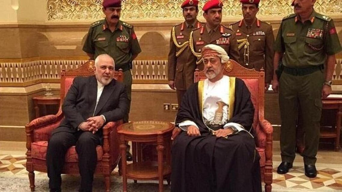 Iranian Foreign Minister Javad Zarif met with newly appointed Sultan Haitham in Oman on Sunday, January 12, 2019. (Photo: Twitter)