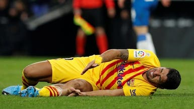 """""""جراحة"""" تبعد سواريز عن برشلونة لمدة أربعة أشهر"""