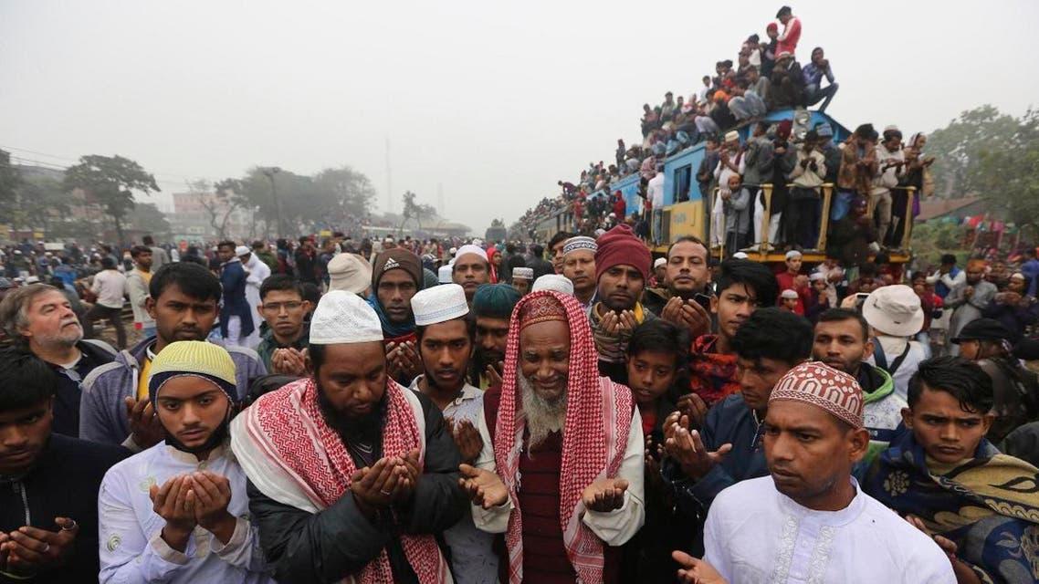Bangladeshi Muslims pray on the last day of a three-day Islamic congregation at Tongi, Bangladesh, Sunday, Jan.12, 2020.  (Photo: AP)
