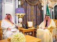 خادم الحرمين الشريفين يتسلم رسالة ملك مملكة البحرين