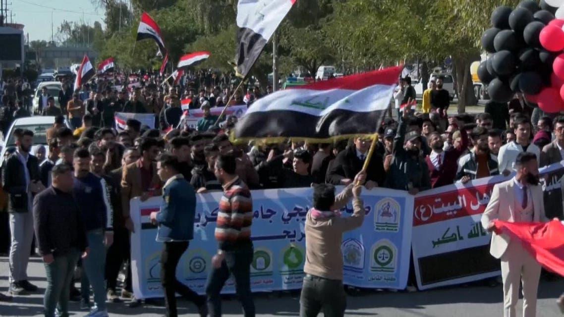 التظاهرات الاحتجاجية في العراق تأخذ منحا تصعيديا ومواجهات