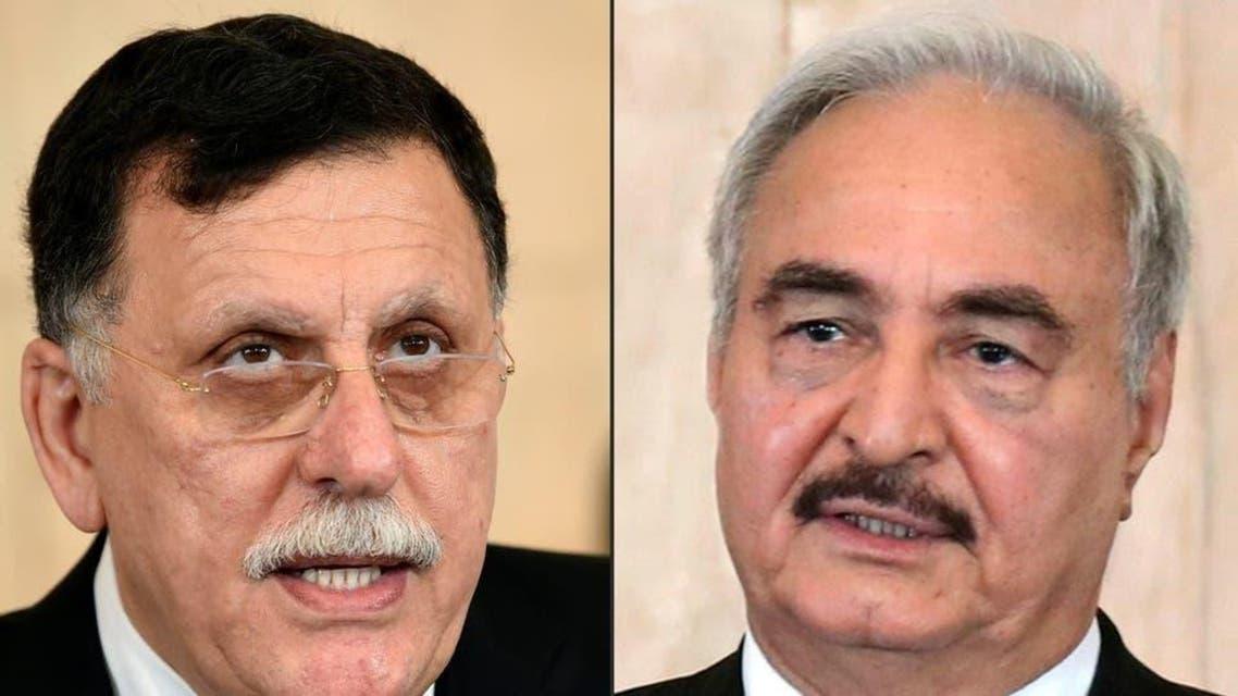 Libya: Khalifa Haftar and Fayez al sarraj