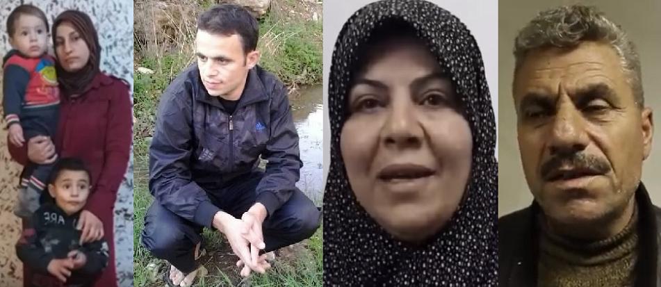 حسن وفاطمة، والدا القتيل السوري محمد موسى، والصورة الأخيرة له ولزوجته فاطمة مع ابنيها منه حسن وجواد