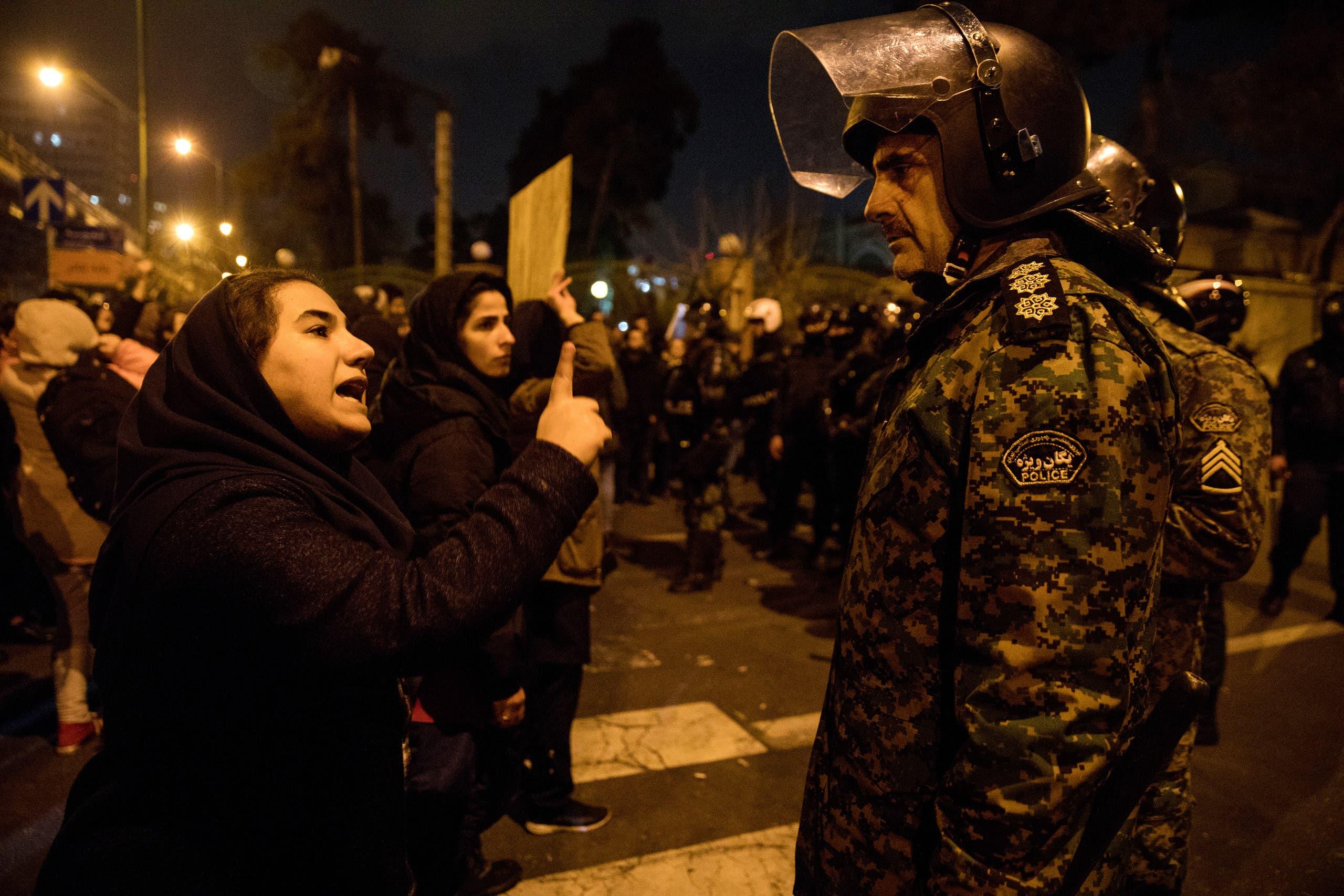 من التظاهرات الإيرانية في طهران