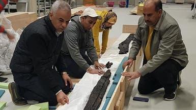 المتحف المصري الكبير يستقبل 202 قطعة أثرية