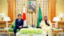 King Salman, Mohammed bin Salman review ties with Japanese PM Abe