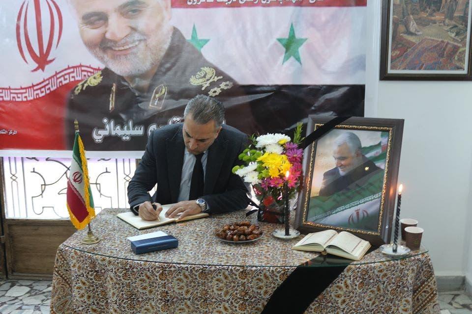 عمار الأسد معزيا بسليماني