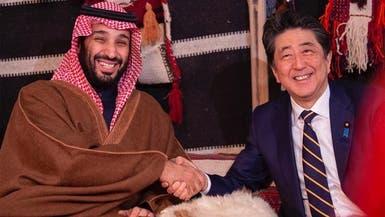 ولي العهد يلتقي رئيس وزراء اليابان ويعقدان مباحثات رسمية
