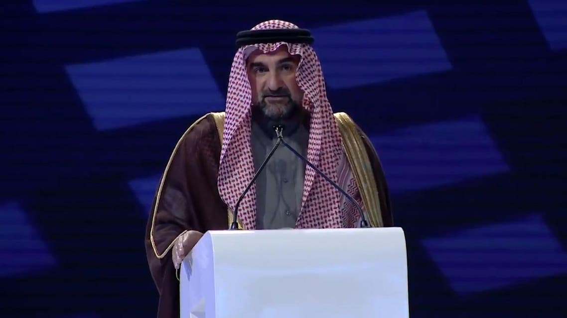 Yassir al-Rumayyan at opening ceremony of IPTC 2020. (Screengrab)