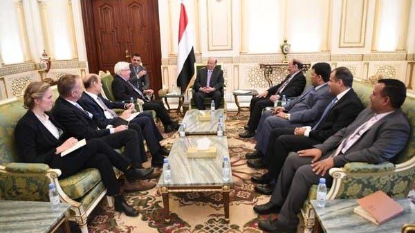 المبعوث الأممي يطلع رئيس اليمن على رؤيته حول الحديدة